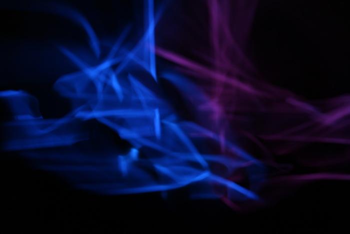 Lightpainting blau-violett