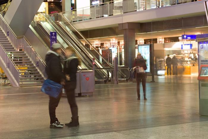 Abschied am Hauptbahnhof in Bern