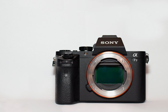 Front-Bild mit Sensor von der Sony A7 Mark II - ILCE7M2
