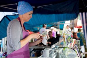 Das Streetfood-Festival Foodtruck-Happening auf dem Aarefeldplatz in Thun