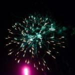 Grünes Feuerwerk am Niesen