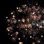 Feuerwerk am Niesen