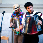 Akkordeonspieler in der Altstadt Bern am Buskers-Festival