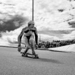 Wallpaper: Actionbild Longboardrennen (Downhill)