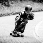 Actionbild Longboardrennen (Downhill)