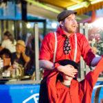 Blind jonglieren verrückte Jongliershow